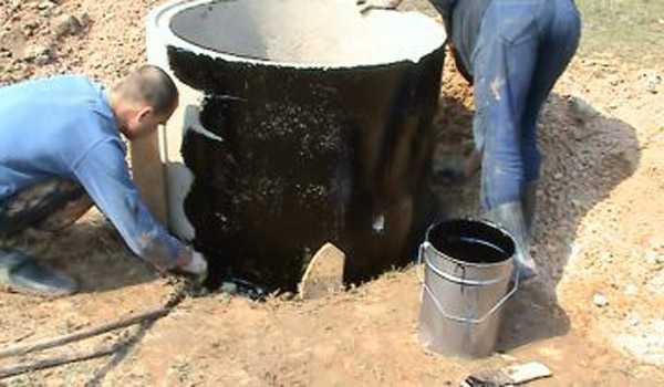 Гидроизоляция колодцев бетонных изнутри гидроэлизационная мастика