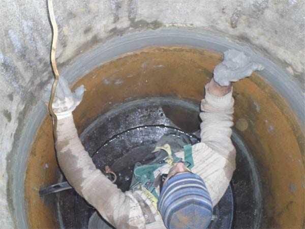 Гидроизоляция бетонных колец изнутри от грунтовых вод гидроизоляция производство алина