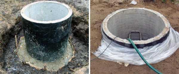 Гидроизоляция старого колодца из бетонных колец - дренажного - септик однокомпонентная полиуретановая мастика для кровли