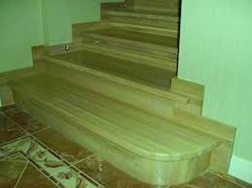 Отделать бетонную лестницу деревом своими руками 43