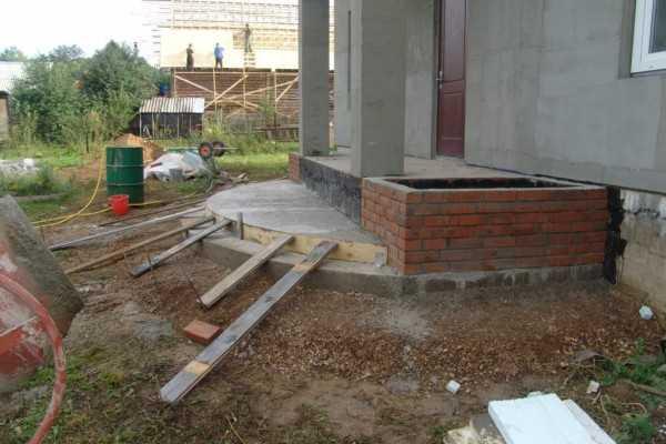 Сделать крыльцо на даче своими руками из бетона 4