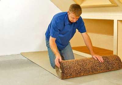 Подложка на бетонный пол под ламинат