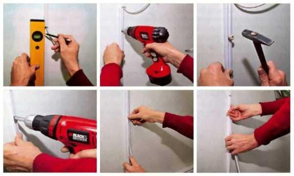 Как крепить кабель канал к бетонной стене