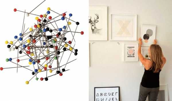 Как повесить картину без гвоздей и без сверления стены на обои