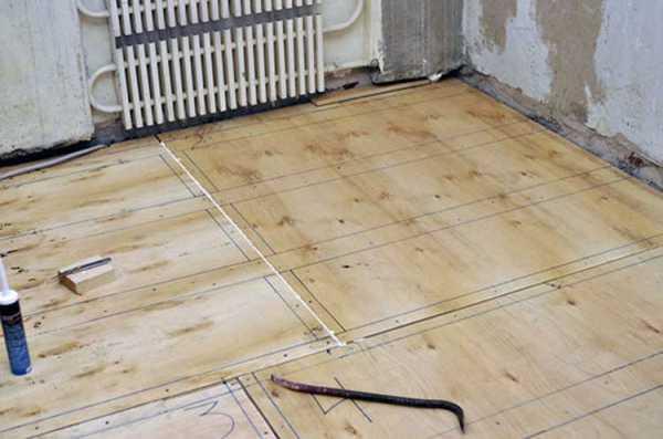 Укладка фанеры на бетонный пол как стелить без лаг