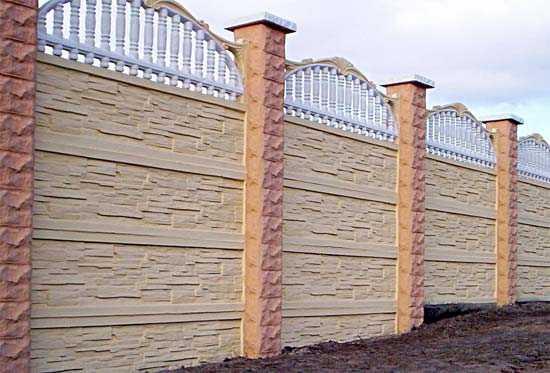 Забор бетонный секционный сборный