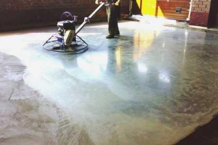Затирка бетона вертолетом технология